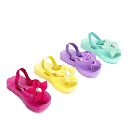 "(Zebra Trends) Slippers Girls mini met hakbandje""Color"""
