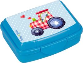 "(Spiegelburg) ""Babygeluk"" Mini trommeltje blauw 'Traktor'"