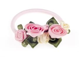 """(Souza for Kids) Haarelastiek roze met roosjes """"Coralie"""""""