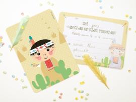 """(Papiergoed) """"Uitnodigingen"""" 'Indiaan'"""