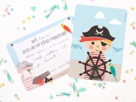 """(Papiergoed) """"Uitnodigingen"""" 'Piraat'"""