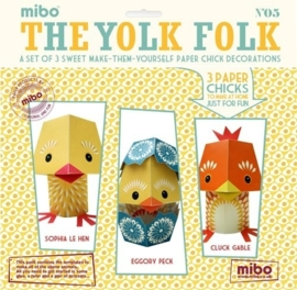 "(Mibo) Papieren dieren no 05 ""The Yolk Folk"""