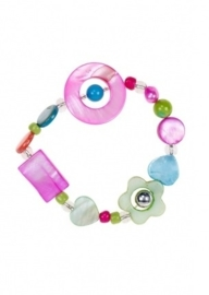 "(Souza for Kids) Armbandje paars - groen multicolour ""Suze"""
