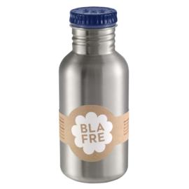 (Blafre) Donkerblauwe drinkfles RVS 500 ml.