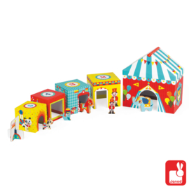 """(Janod) Stapeltoren met houten figuren """"Circus"""""""