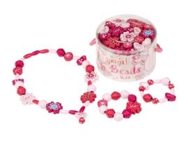 """(Souza for Kids) Maak je eigen ketting en armbandjes roze """"Kralen knutselset"""""""