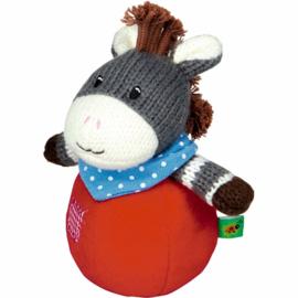 """(Spiegelburg) """"Babygeluk"""" Tuimelaar met belletje gebreide ezel 'Mijn ezeltje'"""