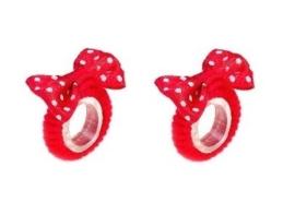 """(Souza for Kids) Haarelastiekjes rood met strikje """"Myrna"""""""