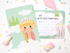 "(Papiergoed) ""Uitnodigingen"" Prinses'"