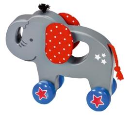 """(Spiegelburg) """"Babygeluk"""" Houten speelgoeddier 'Olifant'"""
