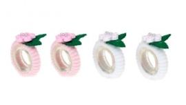 "(Souza for Kids) Haarelastiekjes wit - roze ""Odile"""