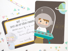 """(Papiergoed) """"Uitnodigingen"""" 'Astronaut'"""