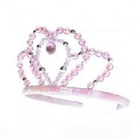 "(Rose & Romeo) Haarband met kroontje en kralen ""Libby"""