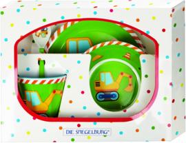 """(Spiegelburg) """"Kleine Vrienden"""" 4-delige set 'Graafmachine'"""