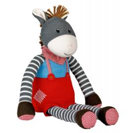 "(Spiegelburg) ""Babygeluk"" Gebreide knuffel 50 cm ezel 'Mijn ezeltje'"