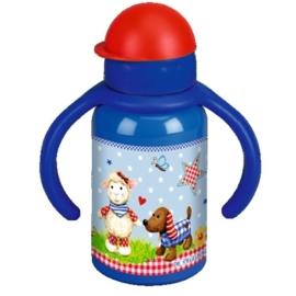 """(Spiegelburg) """"Baby geluk"""" Drinkfles met handvat blauw"""