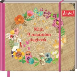 """(Dushi) Invulboek """"Mijn 9 maanden dagboek"""""""