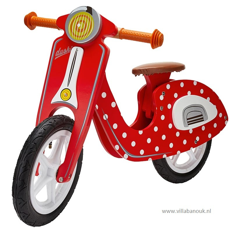 """(Dushi) Houten """"loopscooter"""" Rood"""