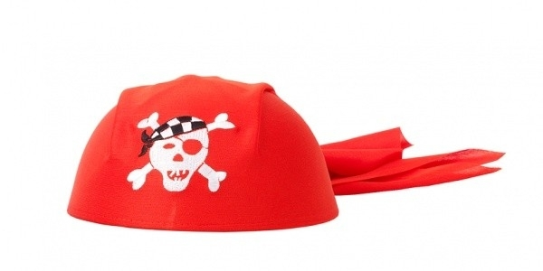 "(Souza for Kids) Piratenhoed rood ""O`Mally"""