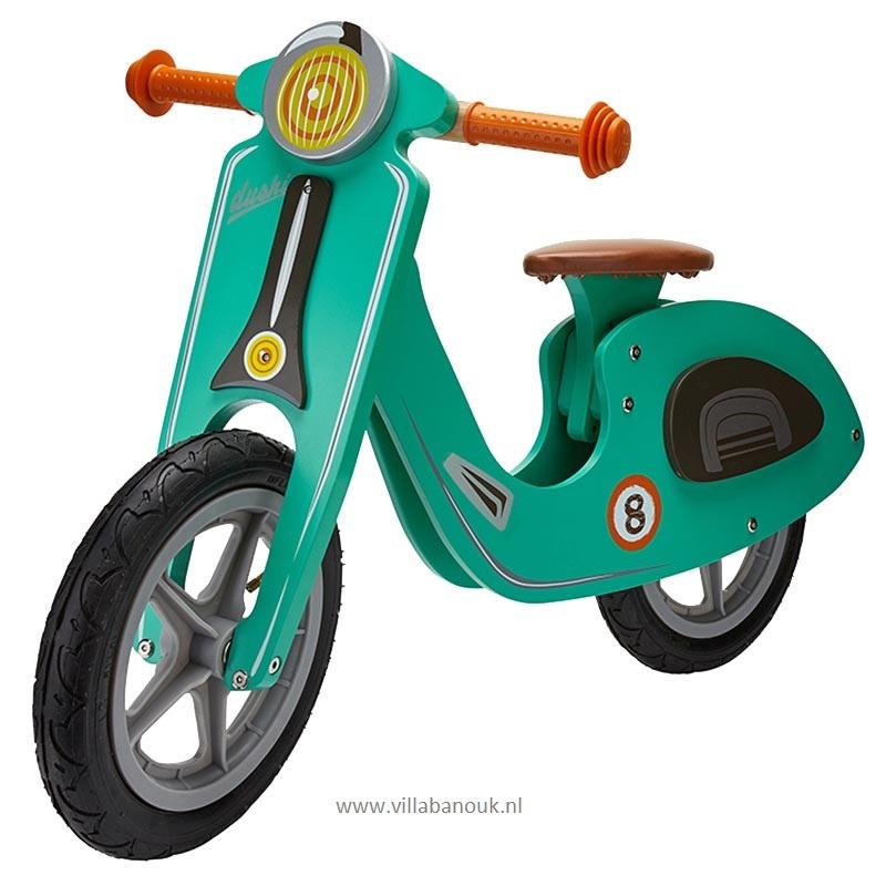 """(Dushi) Houten """"loopscooter"""" Groen"""