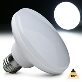 UFO LED lamp E27 120mm. 1800Lm Daglicht 6000k	190110