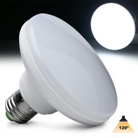 UFO LED lamp E27 120mm. 1800Lm Daglicht 6000k190110