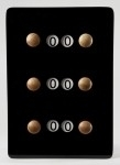 Scorebord zwart 209032