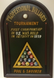 Pool & Snooker wandbord #D