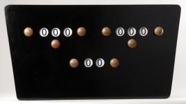 Scorebord hout model vlinder zwart 209031