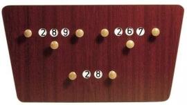 Scorebord hout model vlinder 209041