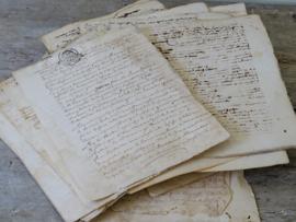 Handwritten documents 1764