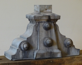 Antique French zinc roof ornament