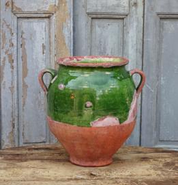 Antique French confitpot 'verte'