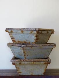 Wooden oyster bins