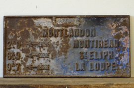 French cast iron signpost
