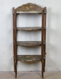 Antique hand painted shelf unit