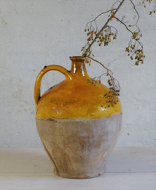 Antique French olive oil jug