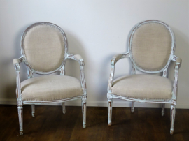 Antique French armchairs Louis XVI