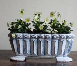 Castiron jardiniere blue