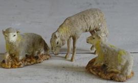 Set van 3 flockschaapjes
