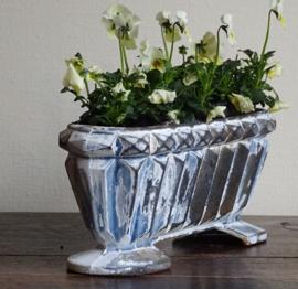 Gietijzeren jardiniere blauw