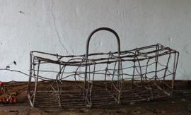 Antique french  bottle basket