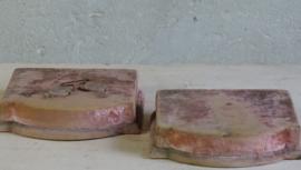 Velours voetstuk oud roze