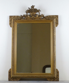 French crested mirror