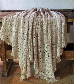 Antique crochet bedspread