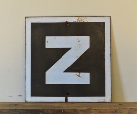 Industriële plaat met letter Z/N