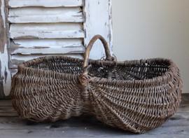 Wicker grape picking basket