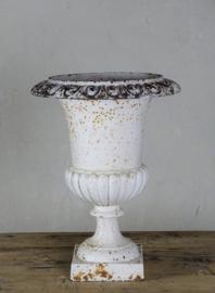 Cast iron garden vase
