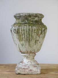 Stone garden vase