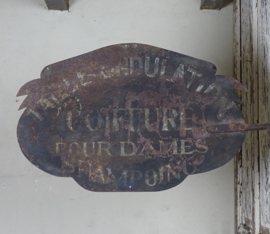Antique french signboard 'Coiffure'